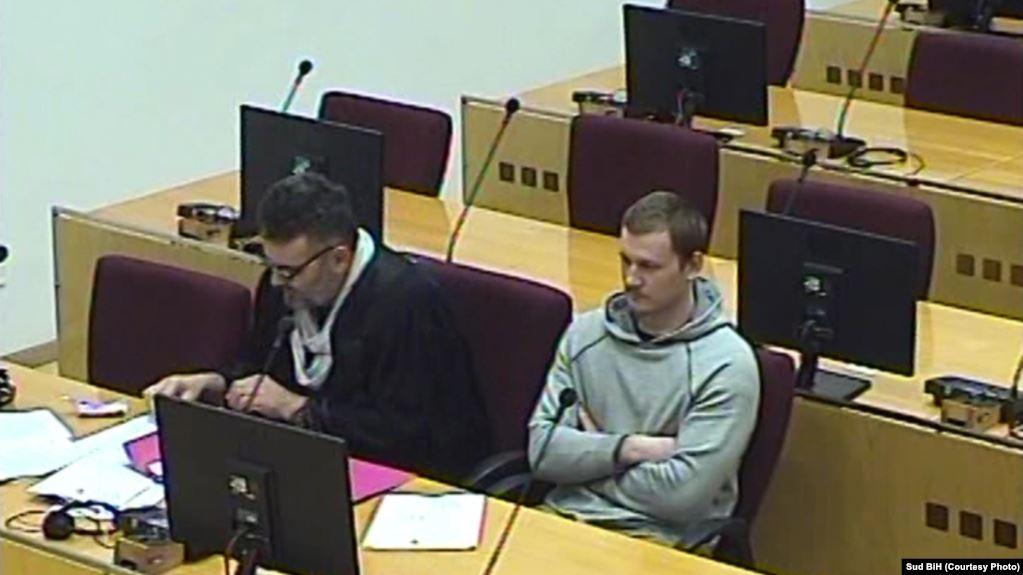 Armen Dželko (desno) u sudnici Suda BiH, fotoarhiv