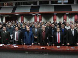 Džim Doson, Nik Grifin i Leonid Savin na sastanku skoro formiranog pokreta Miše Vacića Srpske desnice. Foto: Srpska desnica